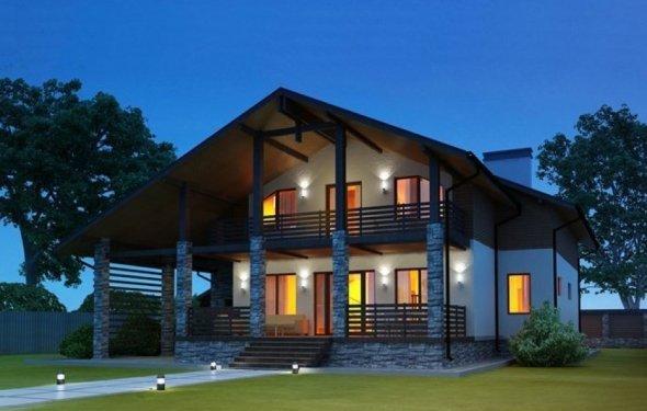 Проект дома в стиле шали: